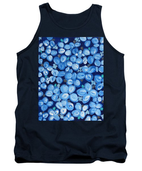 Blue Floral Frenzy Tank Top