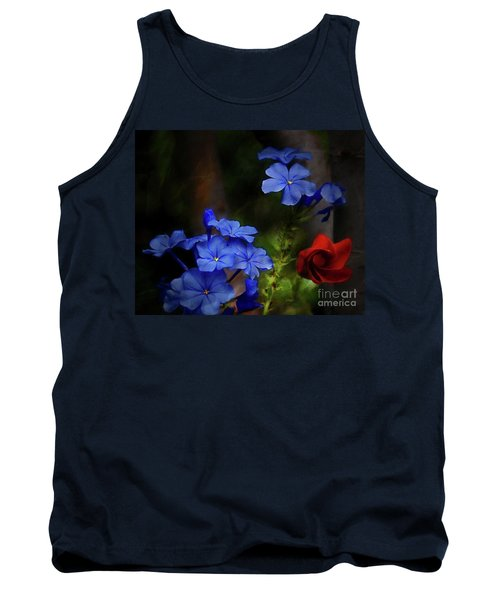 Blue Flowers Growing Up The Apple Tree Tank Top