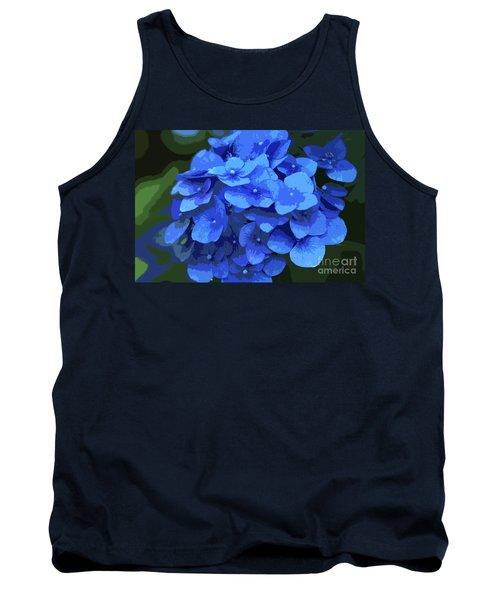 Blue Hydrangea Stylized Tank Top