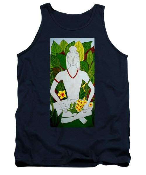 Tank Top featuring the painting Blue Idol by Stephanie Moore