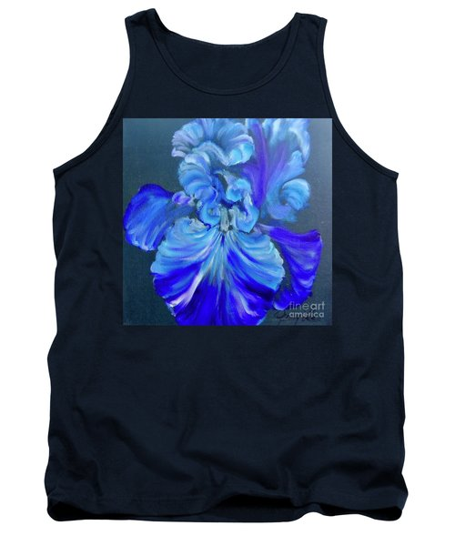 Blue/lavender Iris Tank Top