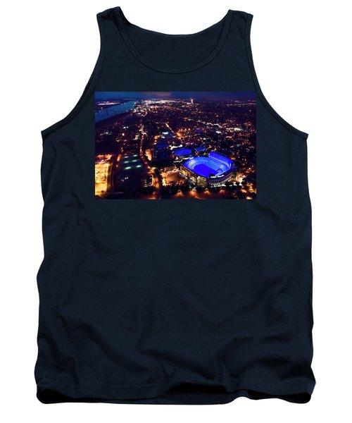 Blue Lsu Tiger Stadium Tank Top by Andy Crawford