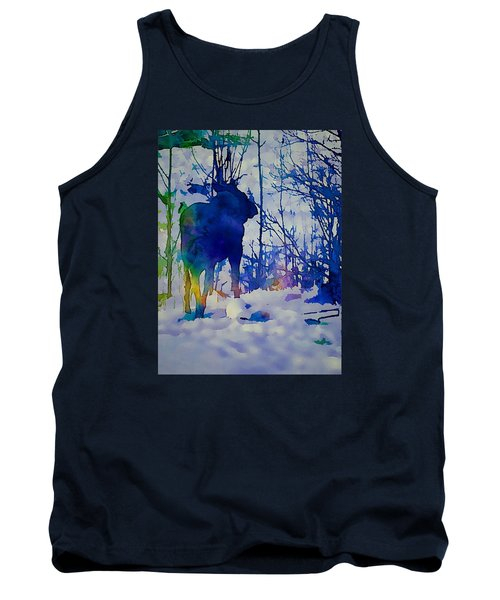 Blue Moose Tank Top by Jan Amiss Photography