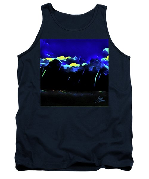Tank Top featuring the painting Blue Mountains by Joan Reese
