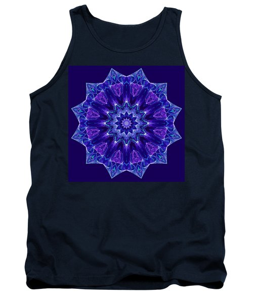 Blue And Purple Mandala Fractal Tank Top