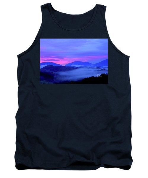 Blue Ridge Mountains Sunset Tank Top