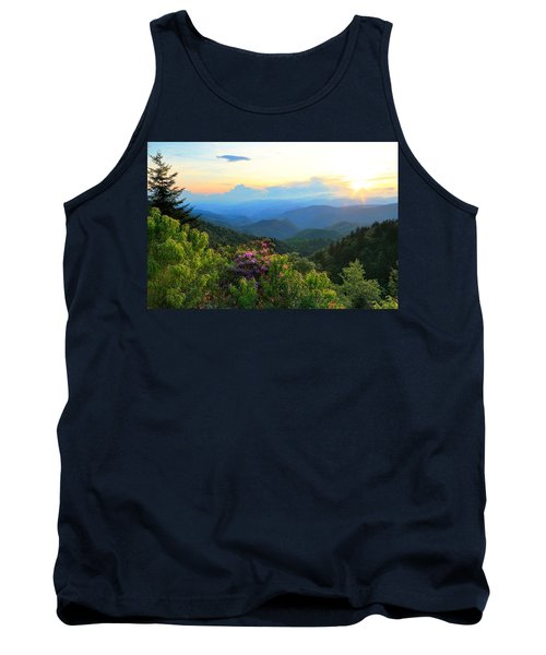 Blue Ridge Parkway And Rhododendron  Tank Top