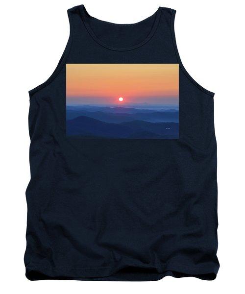 Blue Ridge Sunrise Tank Top by Dale R Carlson