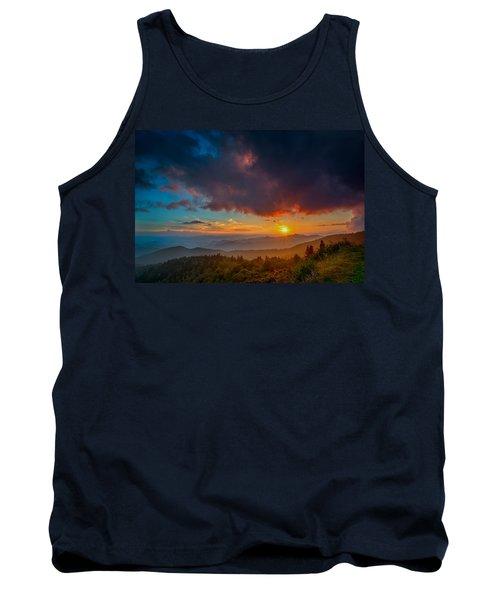 Tank Top featuring the photograph Blue Ridge Sunset by Joye Ardyn Durham