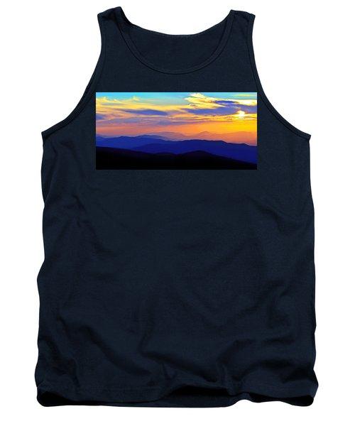 Blue Ridge Sunset, Virginia Tank Top by The American Shutterbug Society