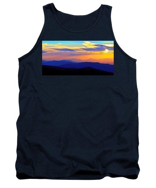 Blue Ridge Sunset, Virginia Tank Top