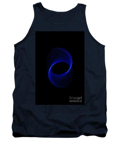 Blue Spiral  Tank Top
