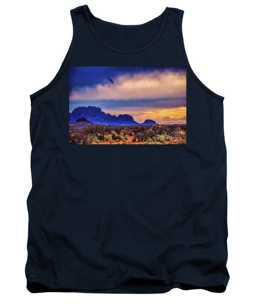 Blue Sunset Nm-az Tank Top