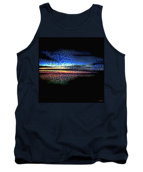 Blue Sunset On The Lake  Tank Top