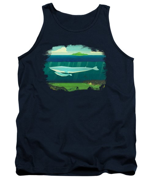 Blue Whale Tank Top by David Ardil