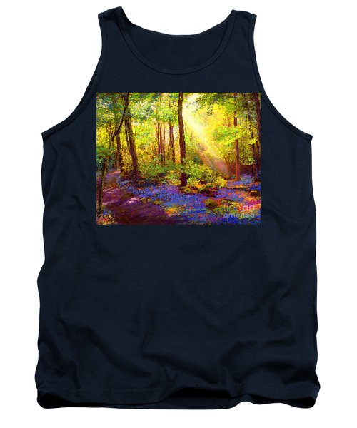Tank Top featuring the painting Bluebell Blessing by Jane Small