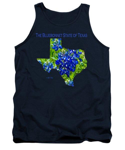 Bluebonnet State Of Texas - T-shirt Tank Top by Robert J Sadler