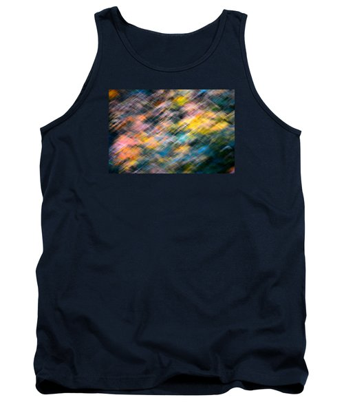 Blurred Leaf Abstract 1 Tank Top