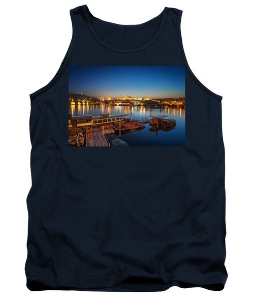 Boat Dock Near St. Vitus Cathedral, Prague, Czech Republic. Tank Top