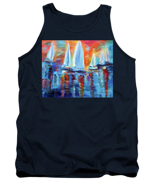 Boats In The Sunset Tank Top