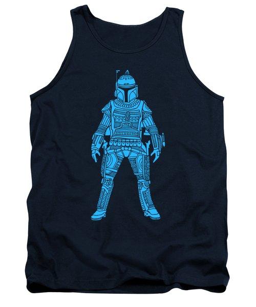 Boba Fett - Star Wars Art, Blue Tank Top