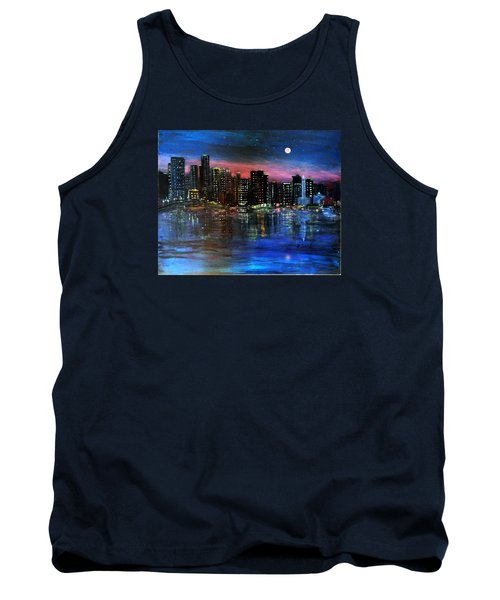 Boston At Night Tank Top