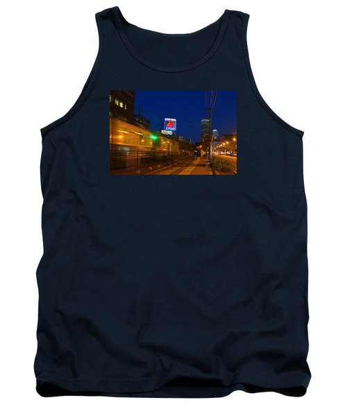 Boston Ma Green Line Train On The Move Tank Top