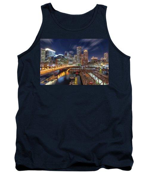 Boston's Skyline At Night Tank Top