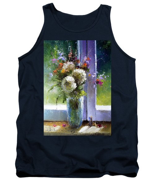 Bouquet At Window Tank Top