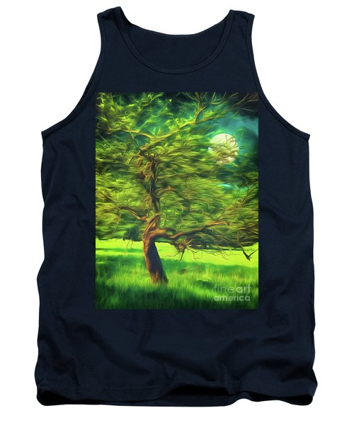 Tank Top featuring the photograph Bowing To The Moon by Leigh Kemp
