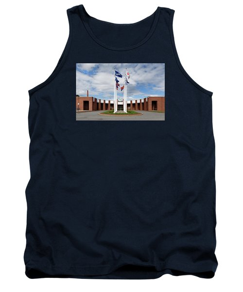 Tank Top featuring the photograph Brandeis University Gosman Sports And Convocaton Center by Betty Denise