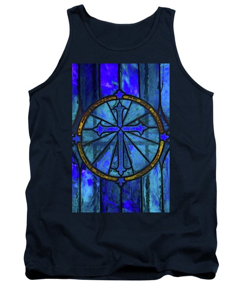 Tank Top featuring the photograph Brillant Blue by Rowana Ray