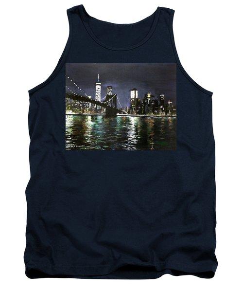 Brooklyn Bridge, East River At Night Tank Top