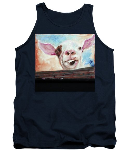 Bucktooth'd Goat Part Of Barnyard Series Tank Top
