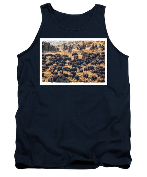Tank Top featuring the photograph Buffalo Roundup by Kristal Kraft