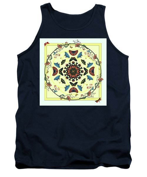 Tank Top featuring the digital art Butterfly Garden Abstract by Deborah Smith