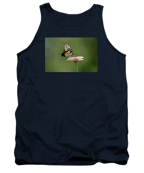 Tank Top featuring the photograph Butterfly On Zinnia by Wanda Krack