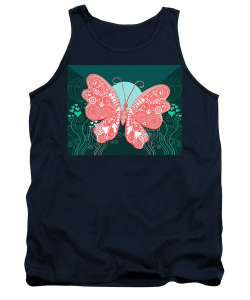 Butterfly Valentine Tank Top