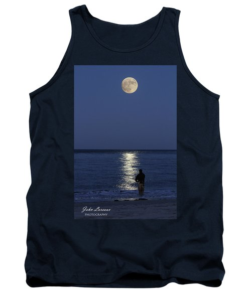By The Light Of The Supermoon Tank Top by John Loreaux