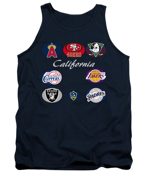California Professional Sport Teams Collage  Tank Top