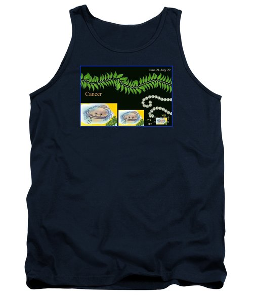 Tank Top featuring the digital art Cancer by The Art of Alice Terrill