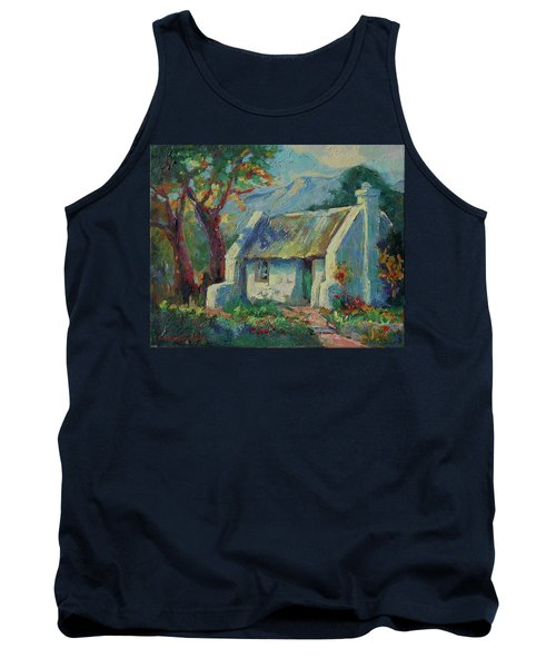 Cape Cottage With Mountains Art Bertram Poole Tank Top