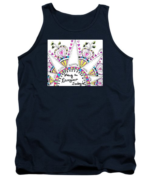 Caregiver Crown Of Hearts Tank Top