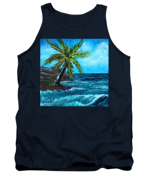 Tank Top featuring the painting Caribbean Vacation #1 by Anastasiya Malakhova