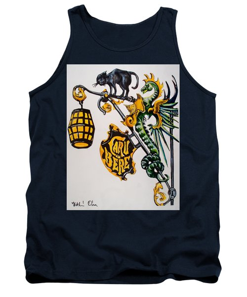 Caru Cu Bere - Antique Shop Sign Tank Top