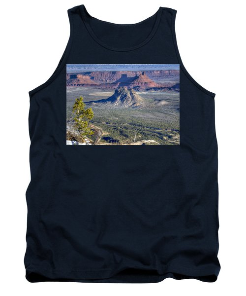 Tank Top featuring the photograph Castle Valley Overlook by Alan Toepfer