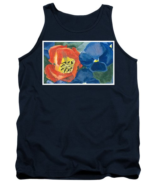 Cat Tulip Tank Top by Joel Deutsch