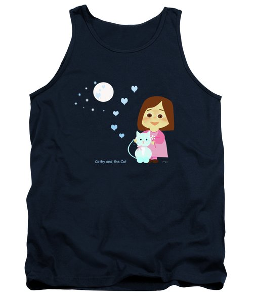 Cathy And The Cat At Night Tank Top
