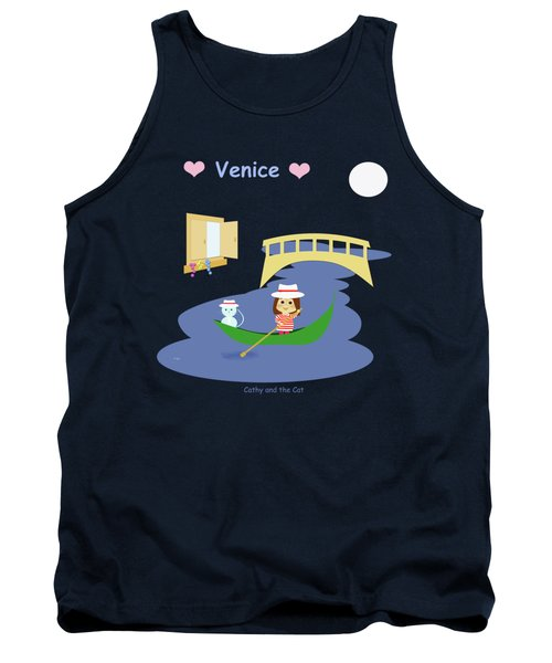 Cathy And The Cat In Venice Tank Top