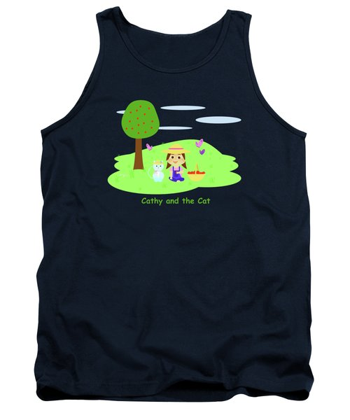 Cathy And The Cat With Apples Tank Top